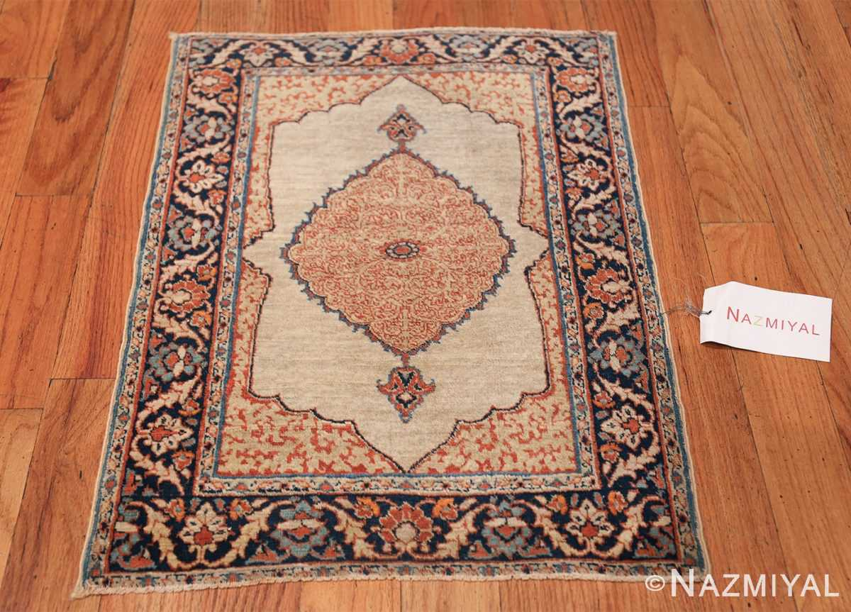 Small Antique Persian Tabriz Scatter Size Carpet 47482 Whole Design Nazmiyal