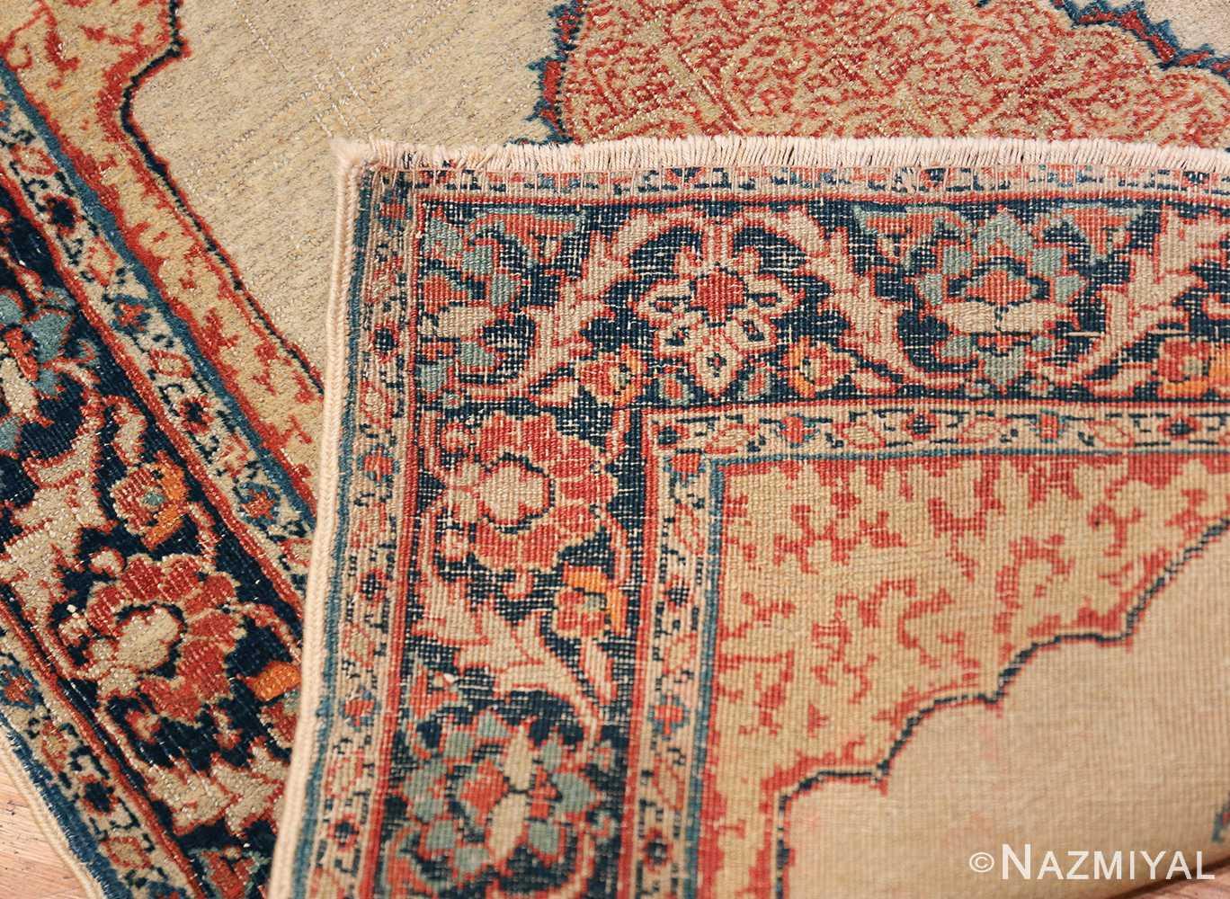 Small Antique Persian Tabriz Scatter Size Carpet 47482 Woven Knots Nazmiyal