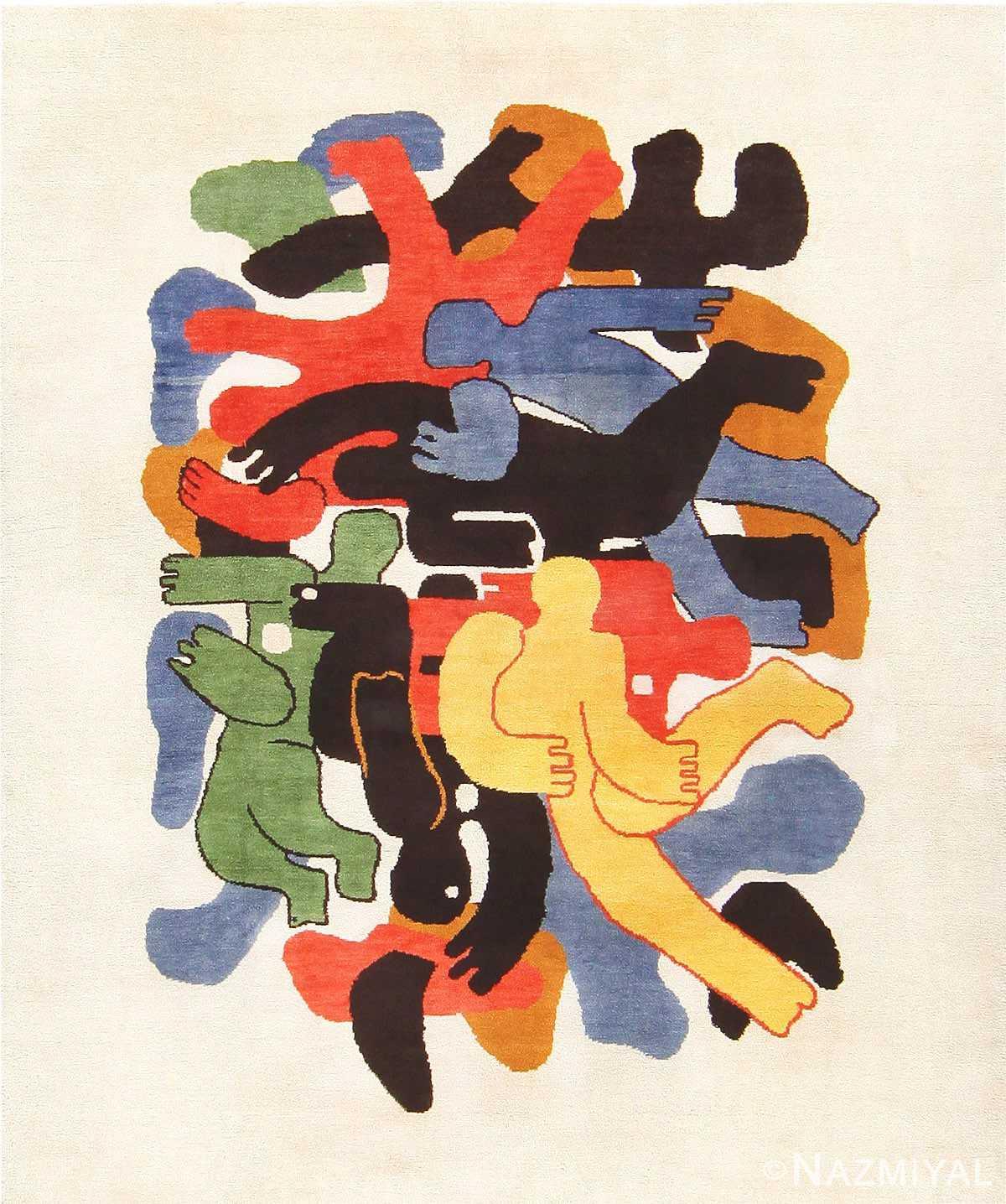 Vintage Ecuadorian Carpet by Artist Edward Gerber 47514 Nazmiyal