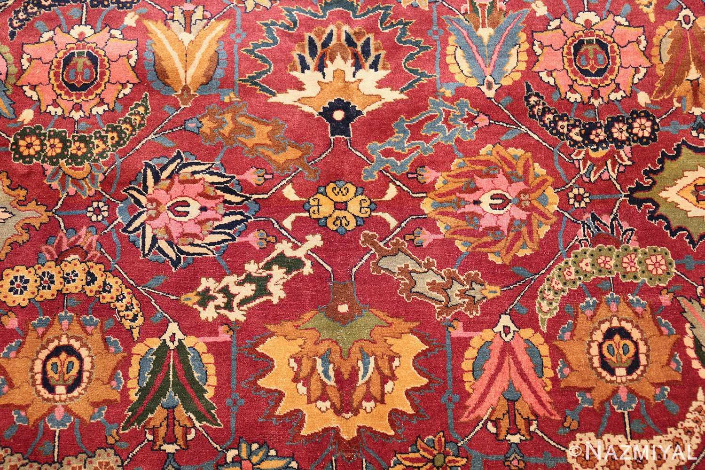 vintage persian tabriz sickle leaf rug 47474 center Nazmiyal