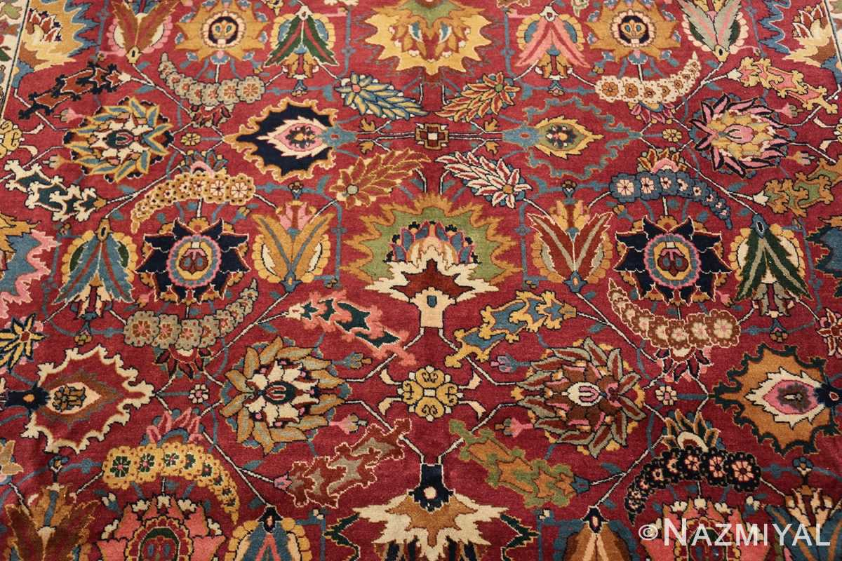 vintage persian tabriz sickle leaf rug 47474 middle Nazmiyal