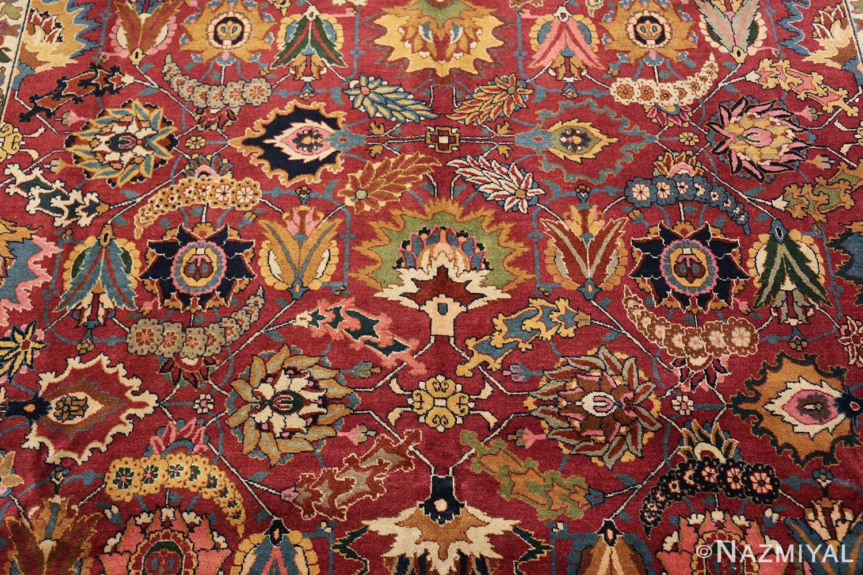 vintage persian tabriz sickle leaf rug 47474 middle Nazmiyal