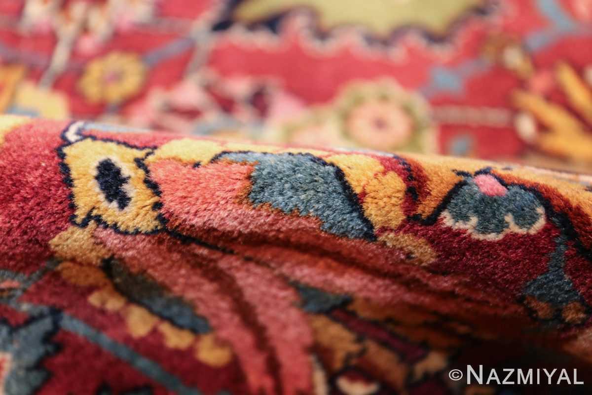 vintage persian tabriz sickle leaf rug 47474 pile Nazmiyal