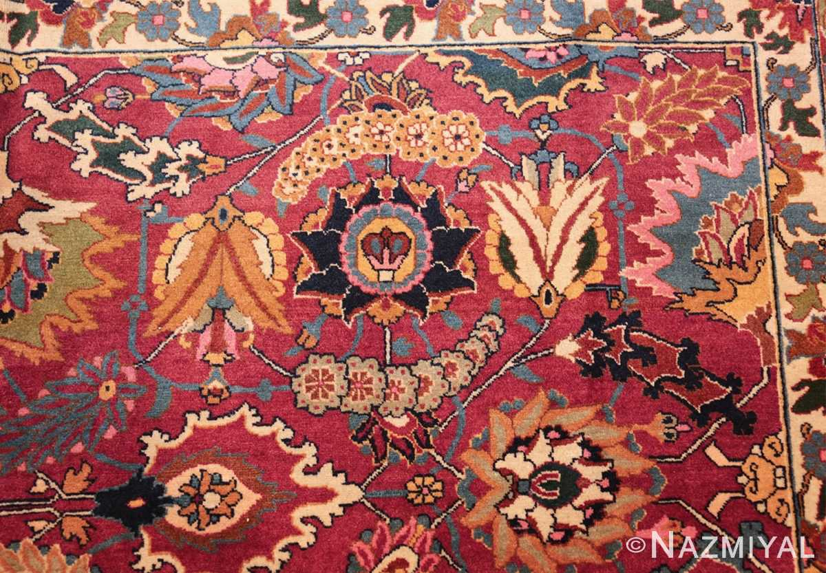 vintage persian tabriz sickle leaf rug 47474 side Nazmiyal