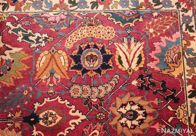 vintage persian tabriz sickle leaf rug 47474 side Nazmiyal