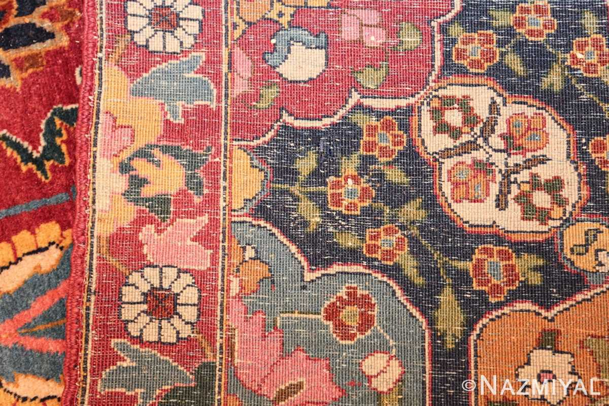 vintage persian tabriz sickle leaf rug 47474 weave Nazmiyal
