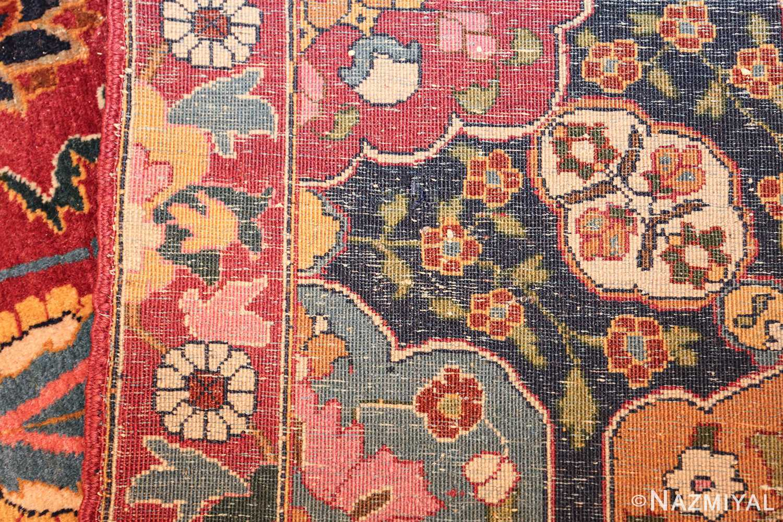 vintage persian tabriz sickle leaf rug 47474 weave Nazmiyal