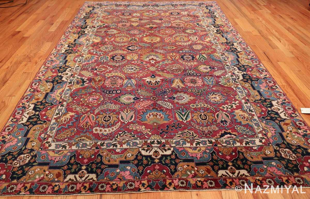 vintage persian tabriz sickle leaf rug 47474 whole Nazmiyal