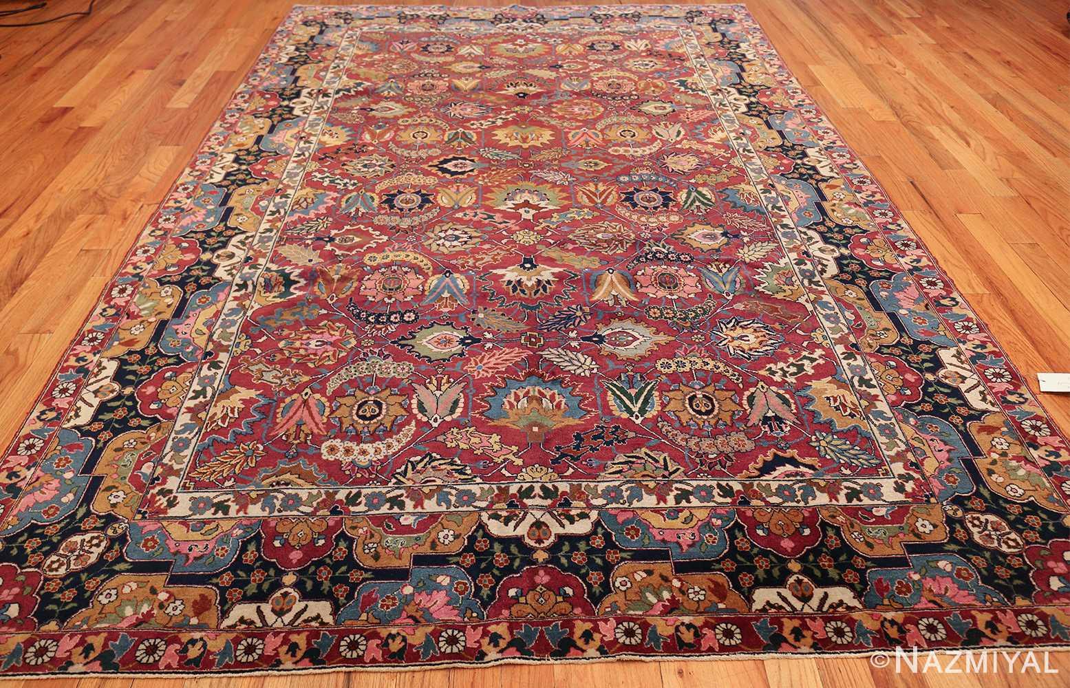 vintage persian tabriz sickle leaf rug 47474 whole Nazmiyal