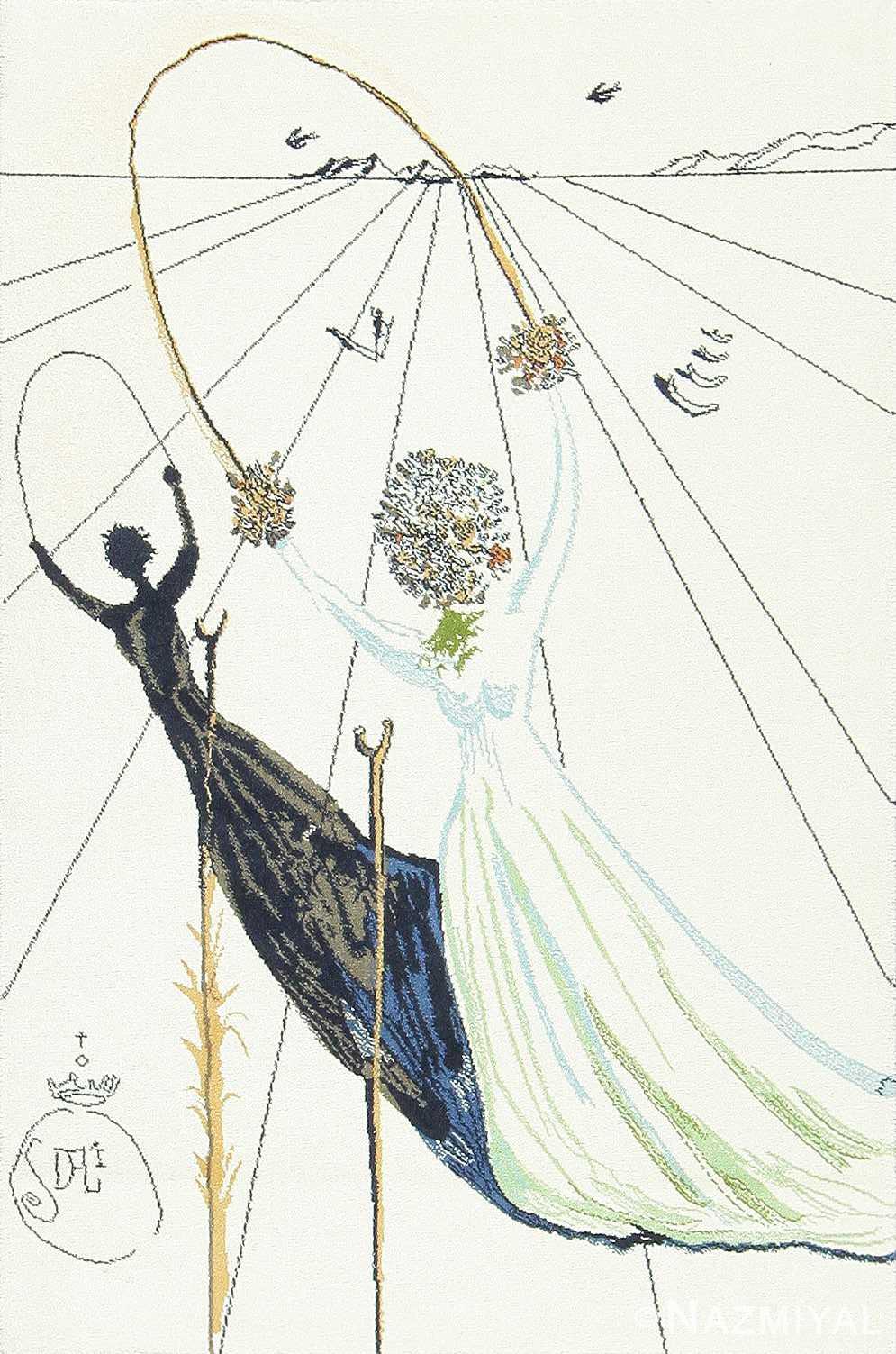 Vintage Salvador Dali Rug Alice in Wonderland 47523 Detail/Large View