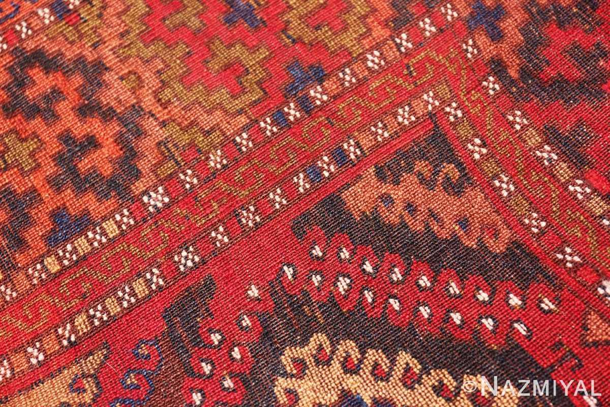 Weave detail Antique Turkish Yuruk Carpet 47447 by Nazmiyal