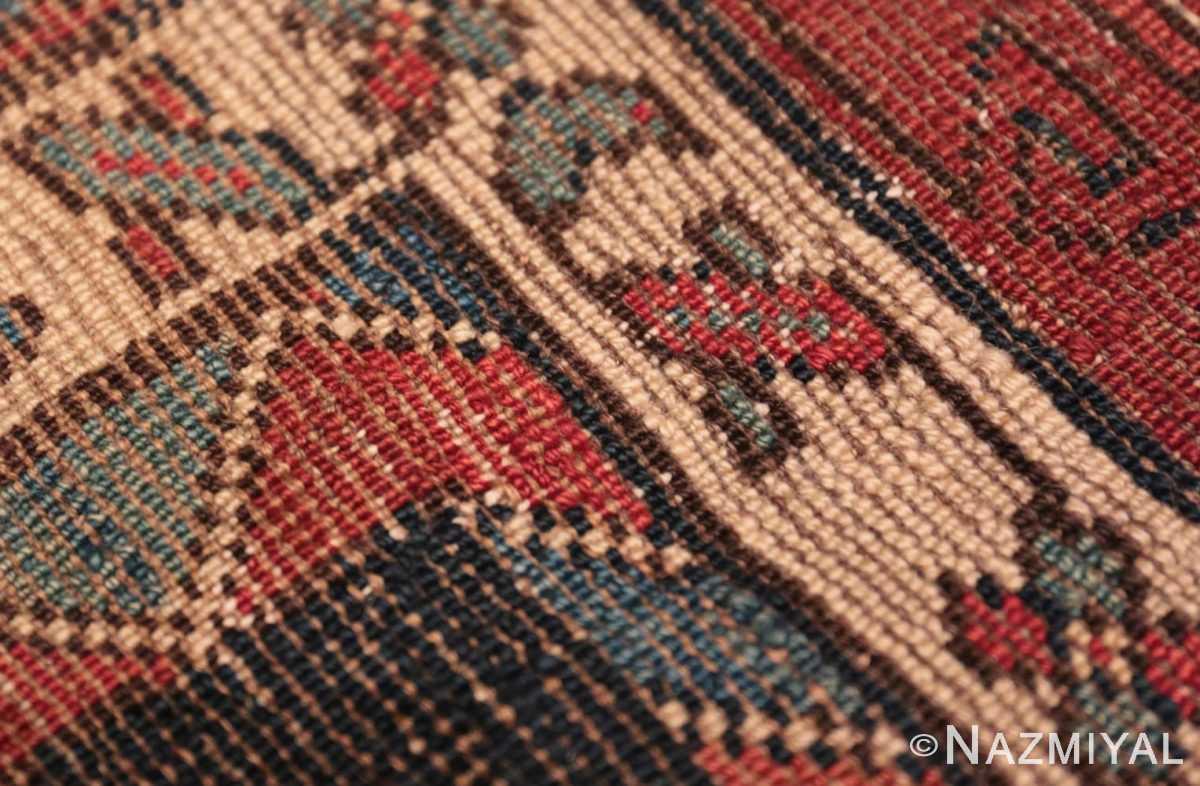 Weave detail Antique Tribal Kurdish runner rug 47460 by Nazmiyal