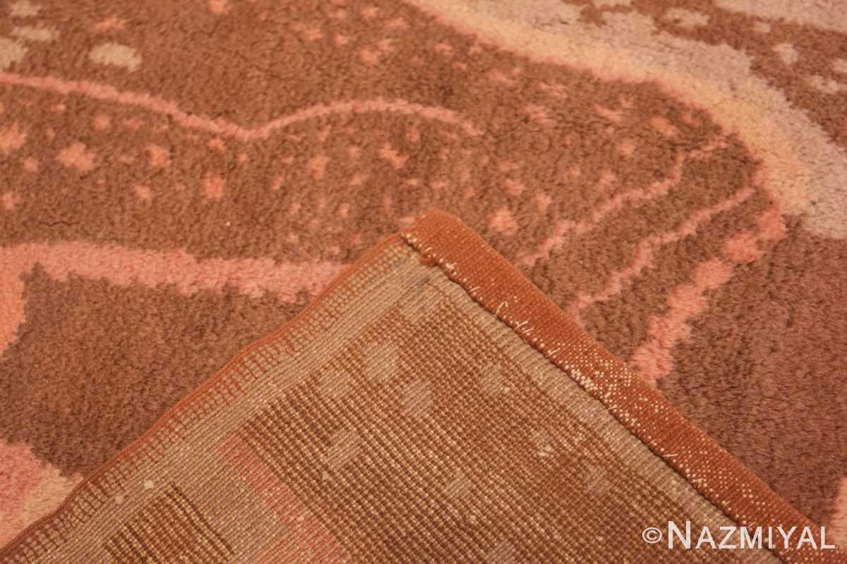 Weave Vintage French Art deco carpet signed dm 47549 by Nazmiyal
