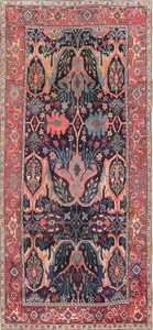 Antique Garous Design Persian Bidjar Carpet 47477 Nazmiyal