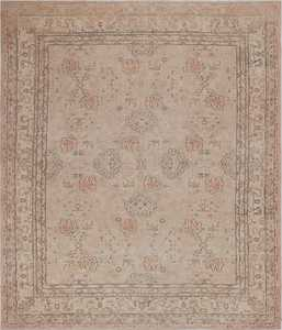 Antique Grey Oushak Carpet 47365 Detail Large View