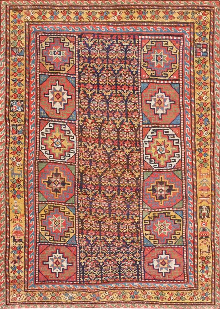 Early Tribal Turkish Konya Rug 47567 Detail/Large View