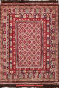 large tribal persian kilim vintage rug 47598 Nazmiyal