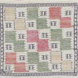 Vintage Scandinavian Rug by Marta Maas 47555 Detail/Large View