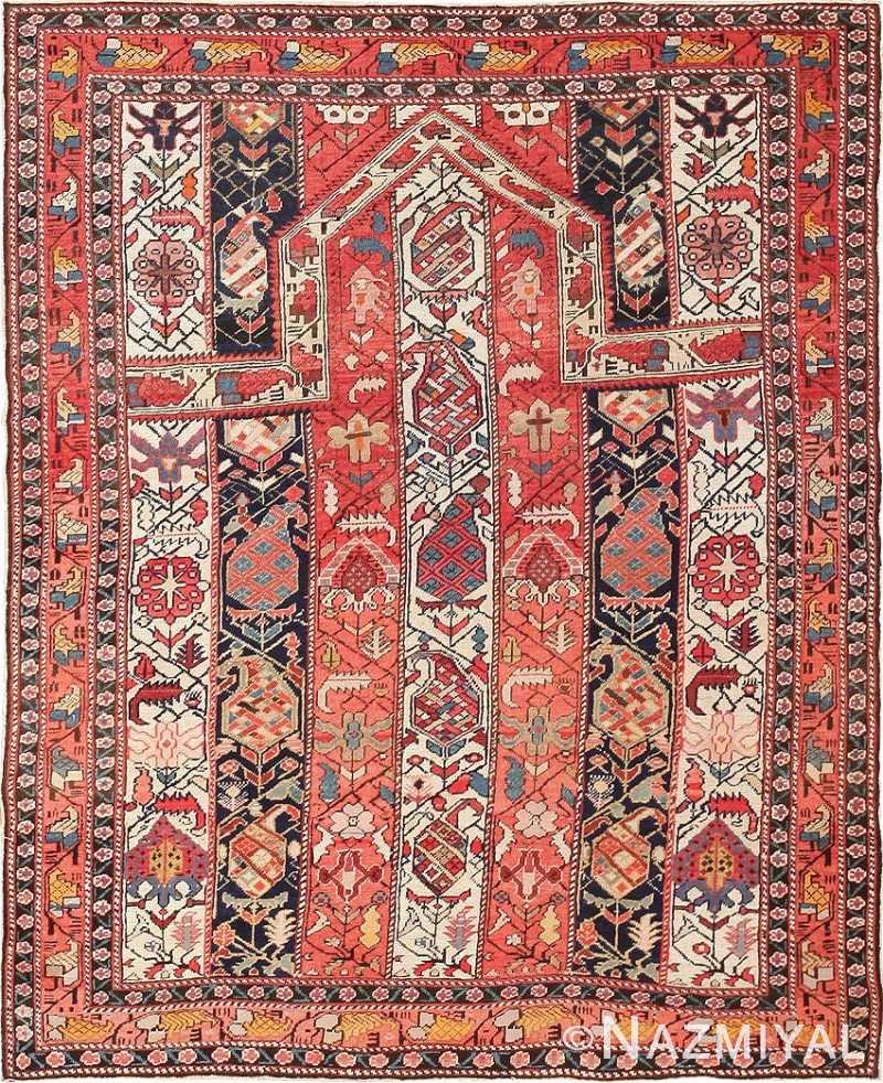 Antique Caucasian Marasali Shirvan Prayer Rug 47496 Nazmiyal