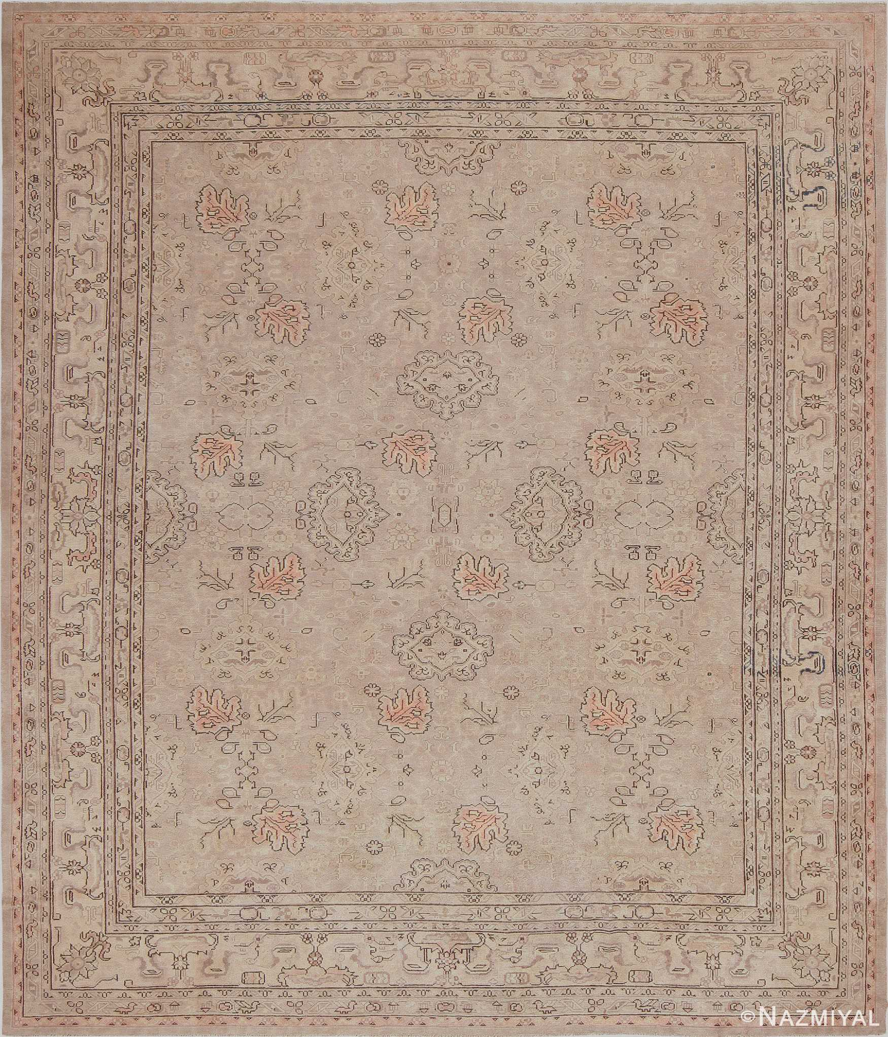 Antique Grey Oushak Carpet 47365 Detail Large View