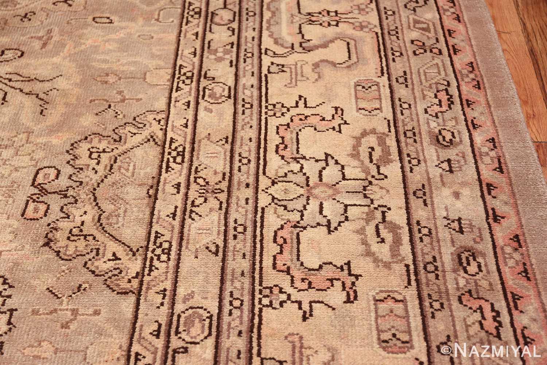 Antique Grey Turkish Oushak Carpet 47365 Border Design Nazmiyal