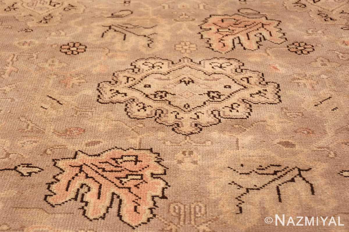 Antique Grey Turkish Oushak Carpet 47365 Central Leaf Nazmiyal