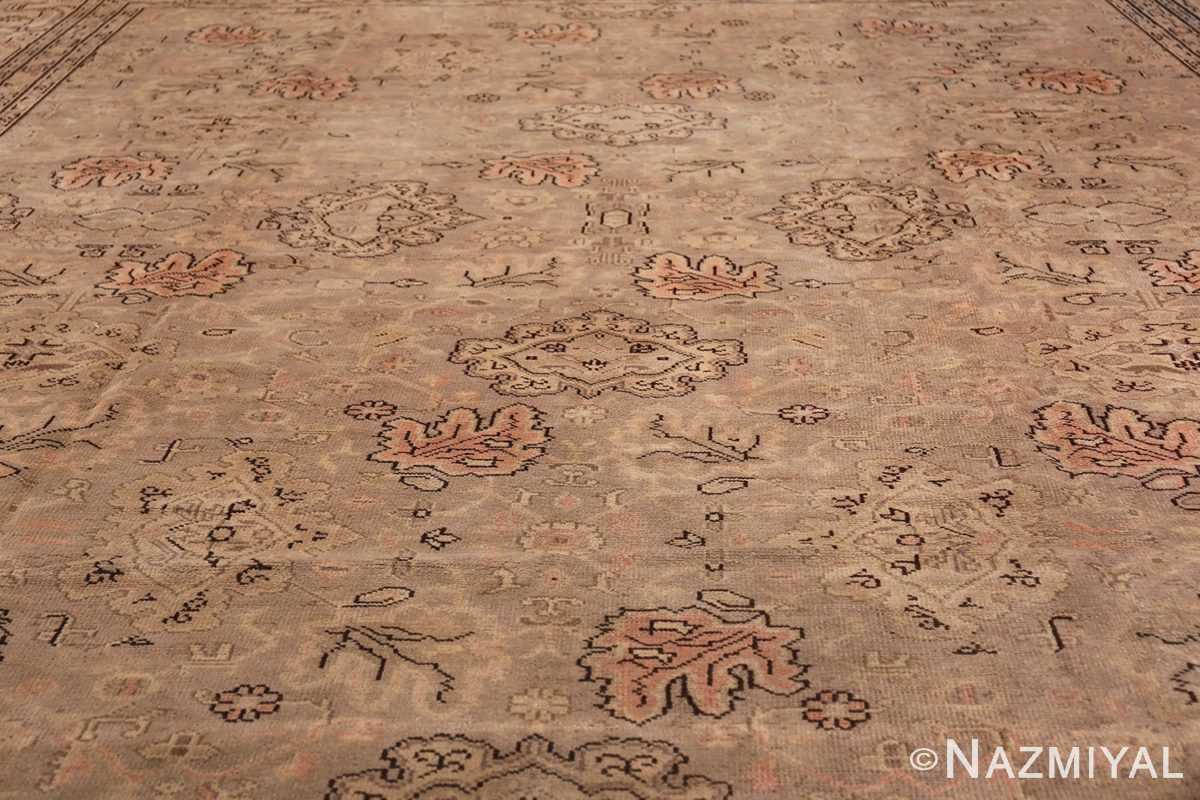 Antique Grey Turkish Oushak Carpet 47365 Field Design Nazmiyal