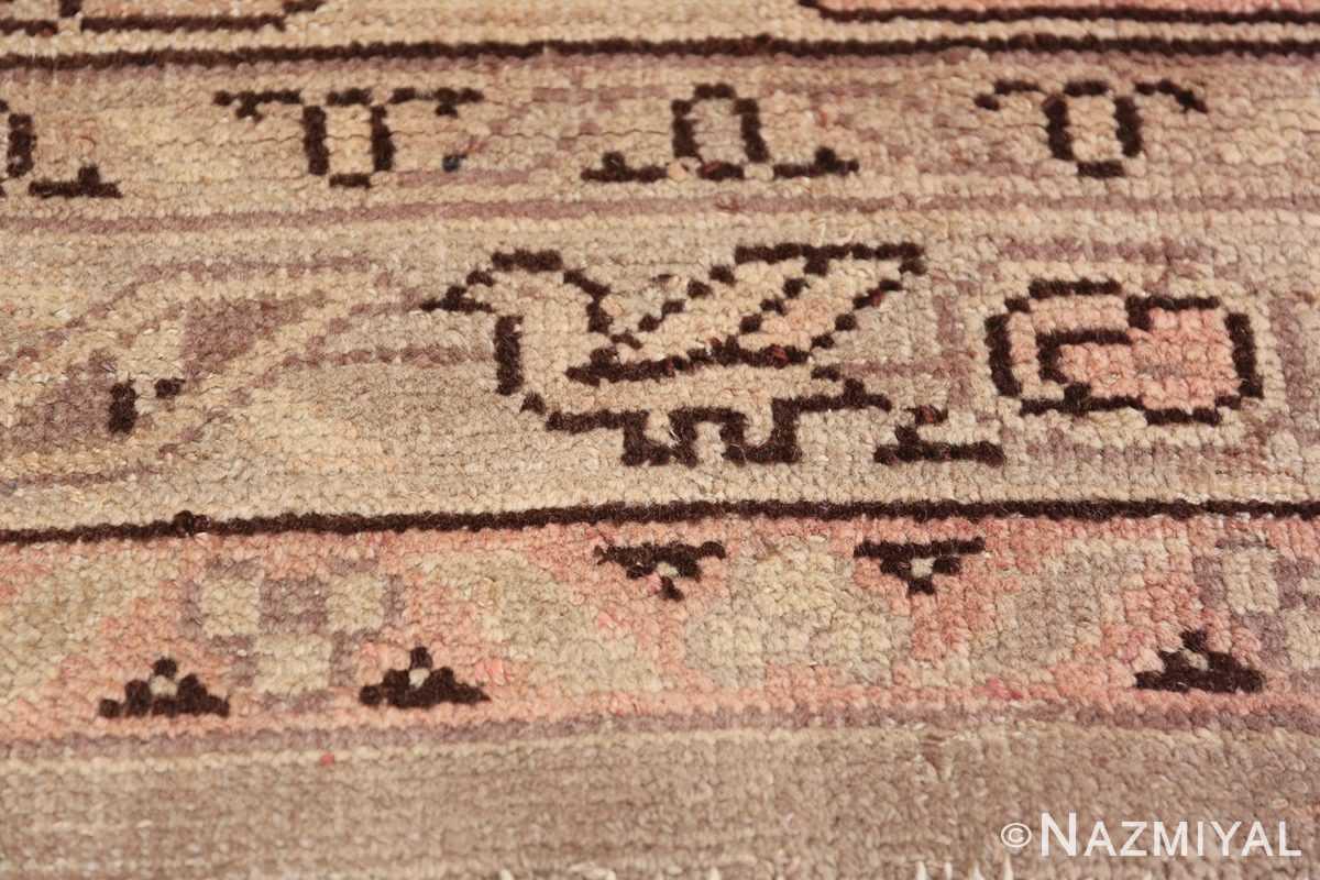 Antique Grey Turkish Oushak Carpet 47365 Flying Horse Nazmiyal