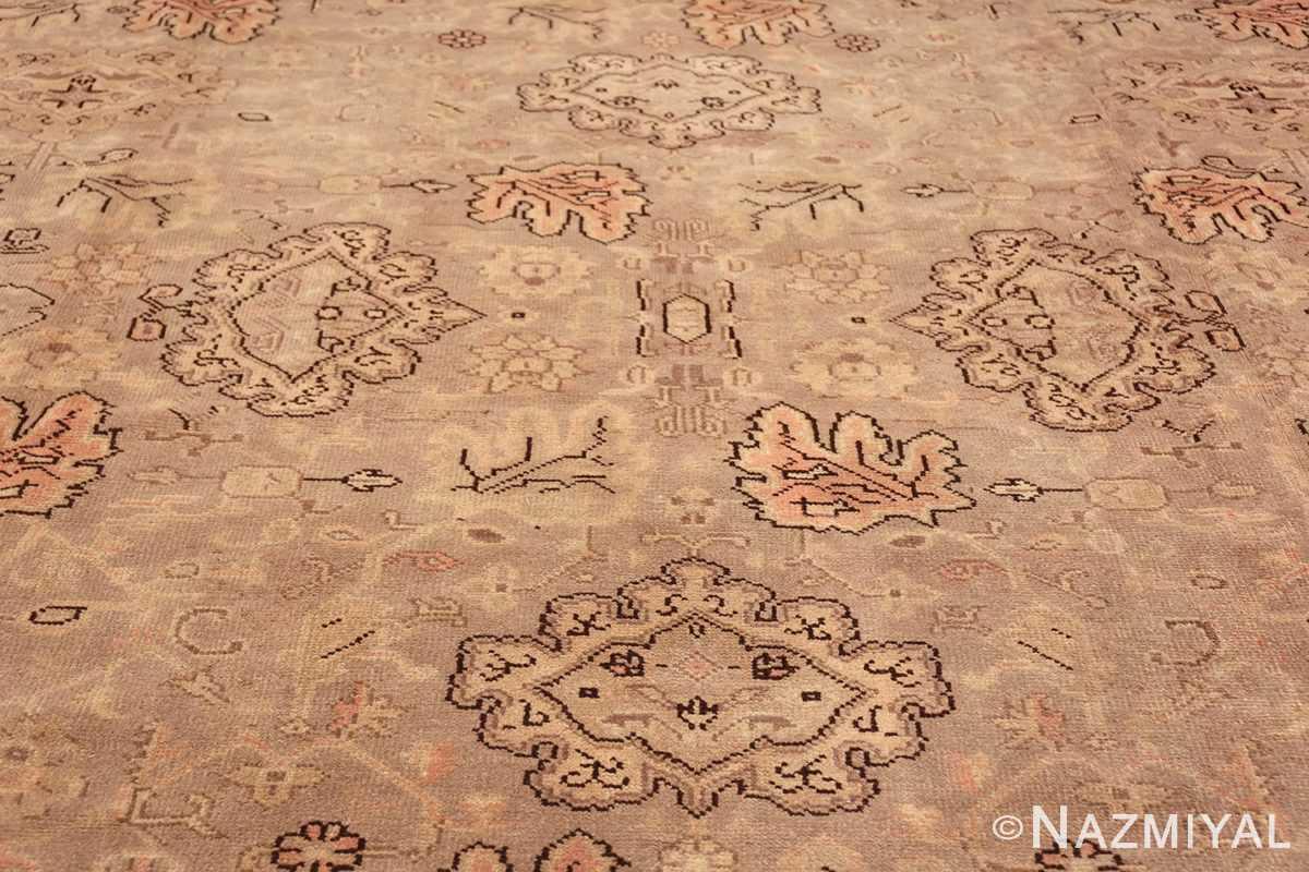 Antique Grey Turkish Oushak Carpet 47365 Middle Design Nazmiyal