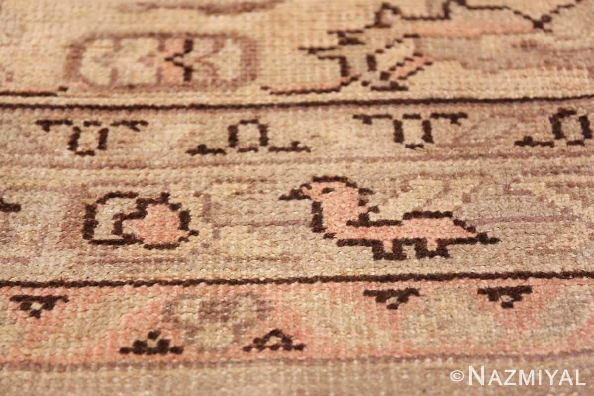 Antique Grey Turkish Oushak Carpet 47365 Pink Horse Nazmiyal
