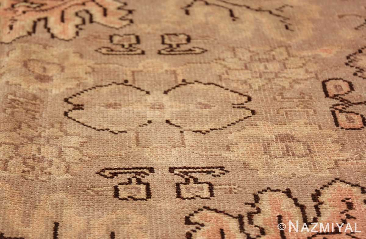 Antique Grey Turkish Oushak Carpet 47365 White Lily Nazmiyal