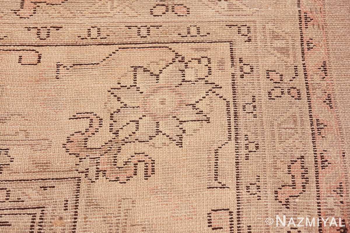 Antique Grey Turkish Oushak Carpet 47365 Woven Knots Nazmiyal