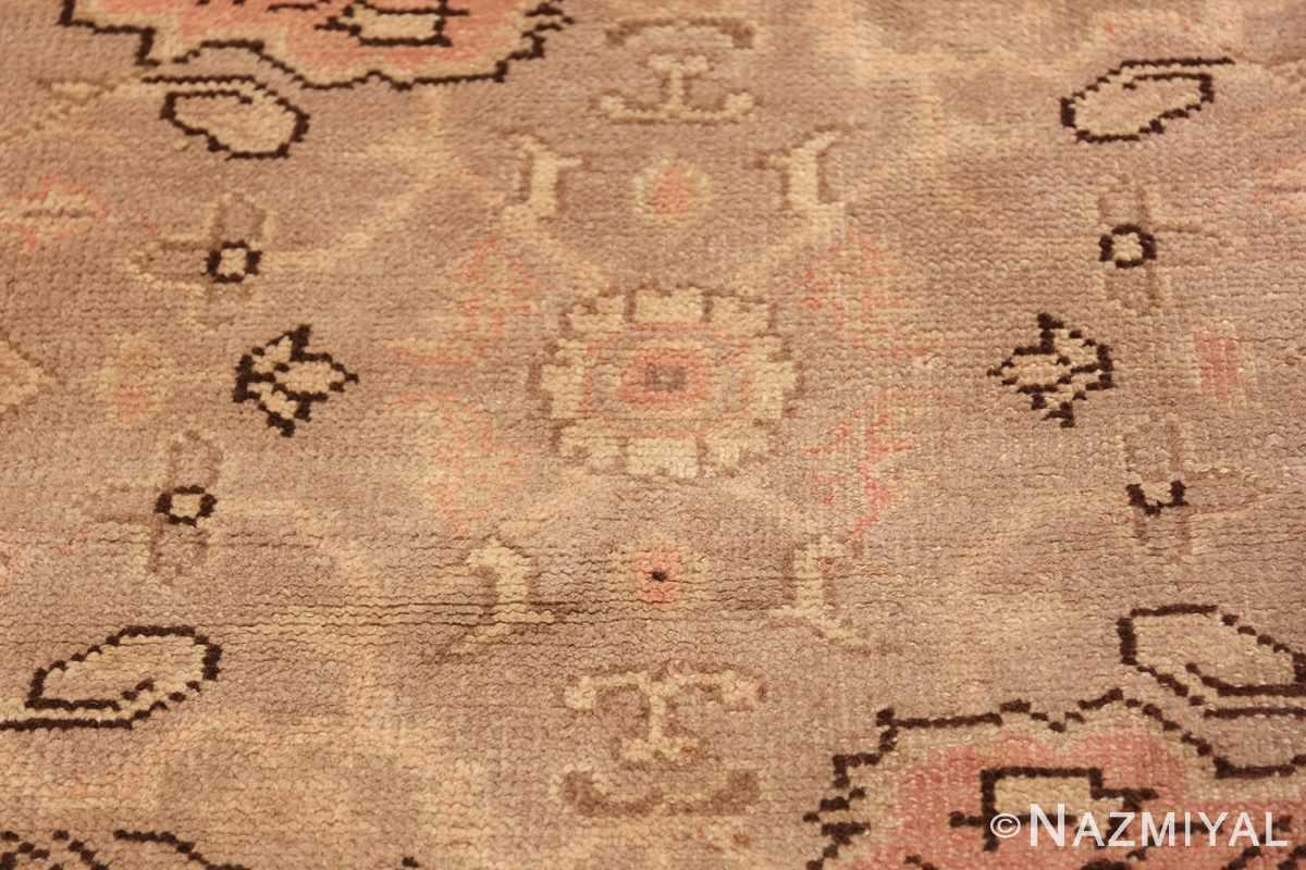 Antique Grey Turkish Oushak Carpet 47365 Yellow Flower Nazmiyal