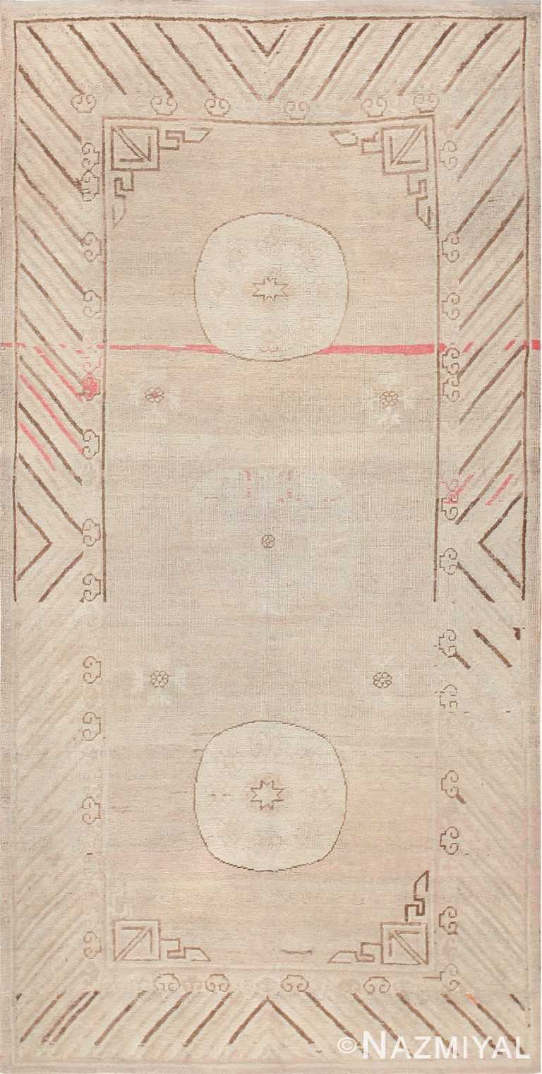 Soft Neutral Color Antique Khotan Area Rug #47571 by Nazmiyal Antique Rugs