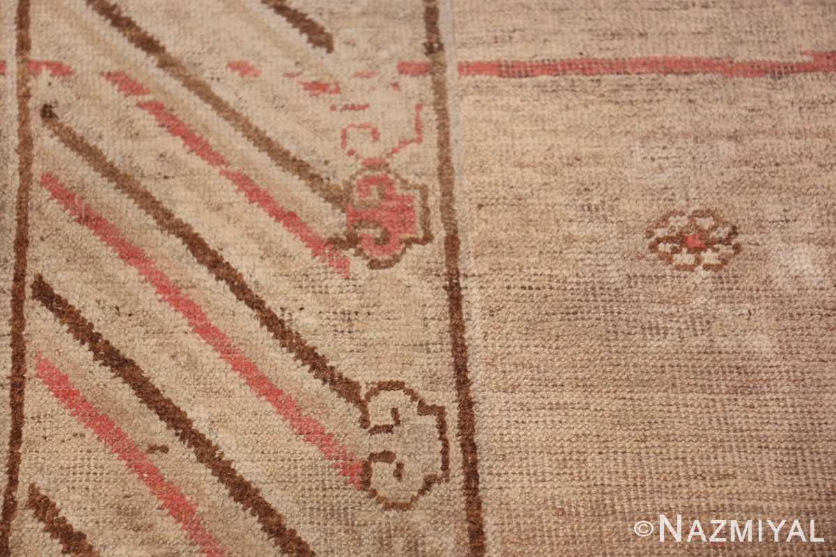 Antique Khotan Rug 47571 Lines on Border Nazmiyal