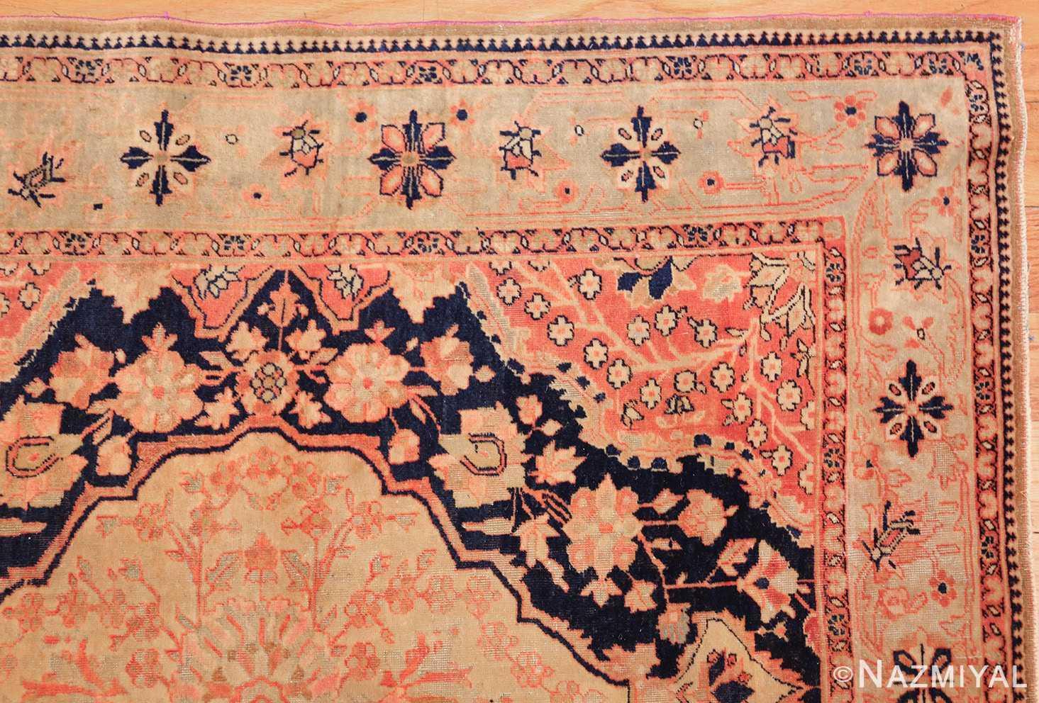 antique persian mohtashem kashan runner rug 47499 corner Nazmiyal