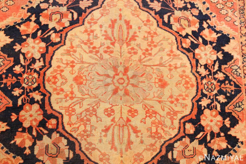 antique persian mohtashem kashan runner rug 47499 medallion Nazmiyal