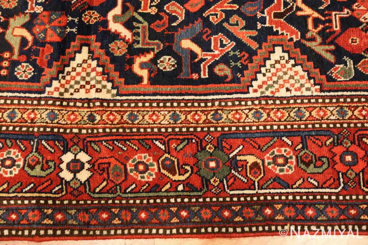 antique persian tribal afshar rug 47569 border Nazmiyal