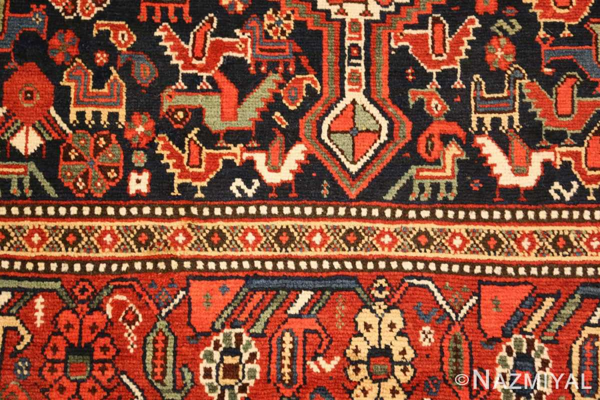 antique persian tribal afshar rug 47569 closeup Nazmiyal