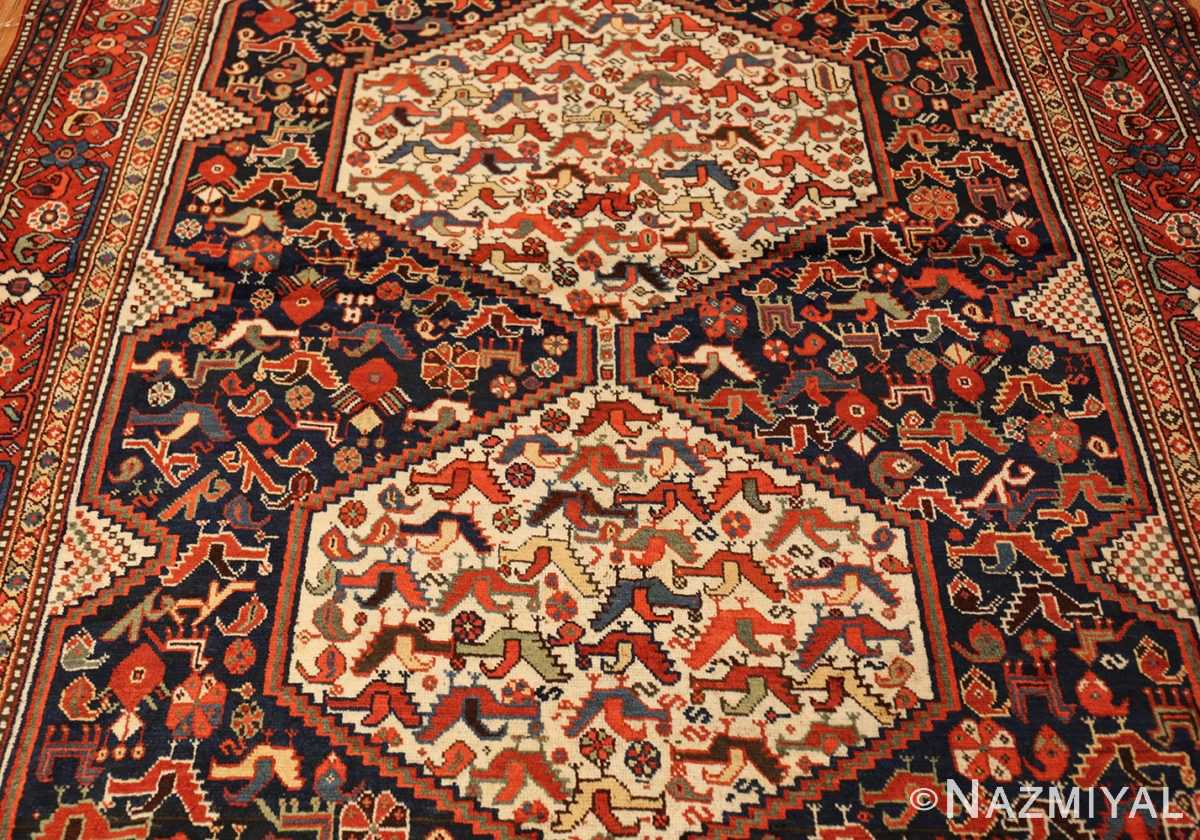 antique persian tribal afshar rug 47569 field Nazmiyal