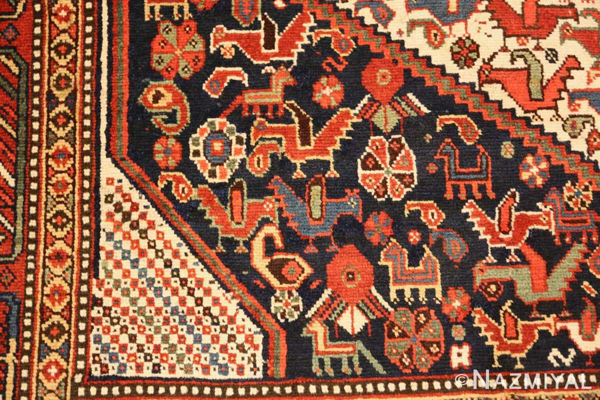 antique persian tribal afshar rug 47569 side Nazmiyal