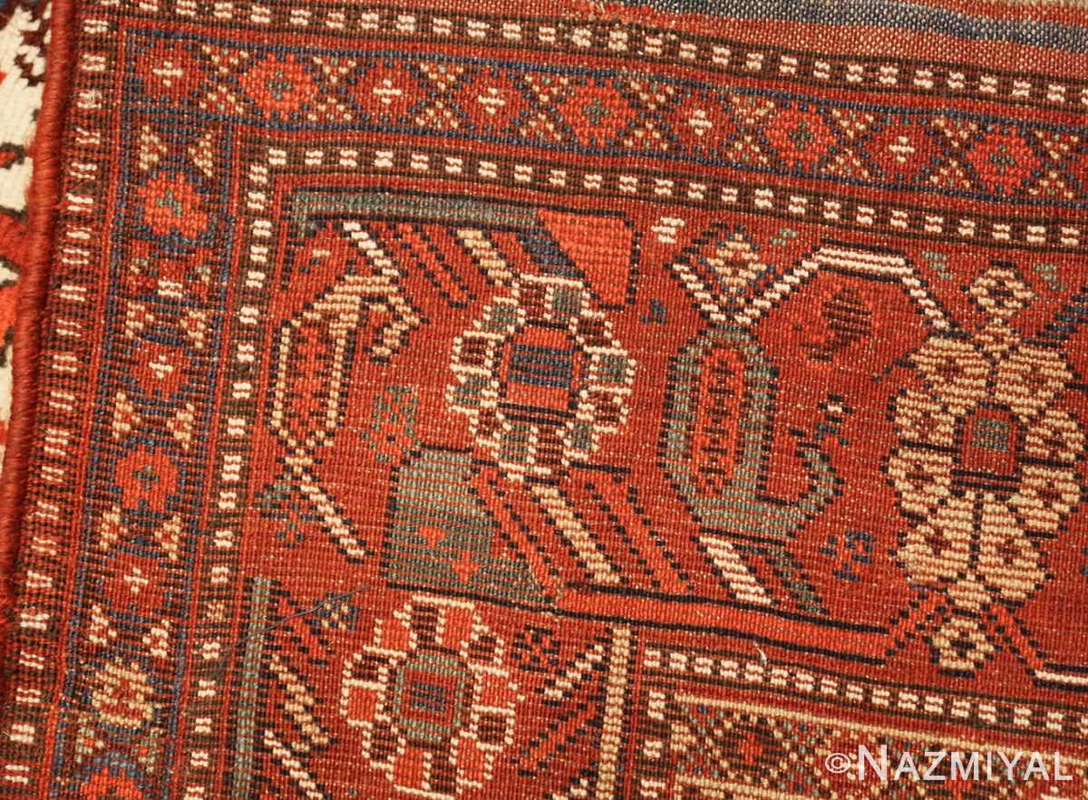 antique persian tribal afshar rug 47569 weave Nazmiyal