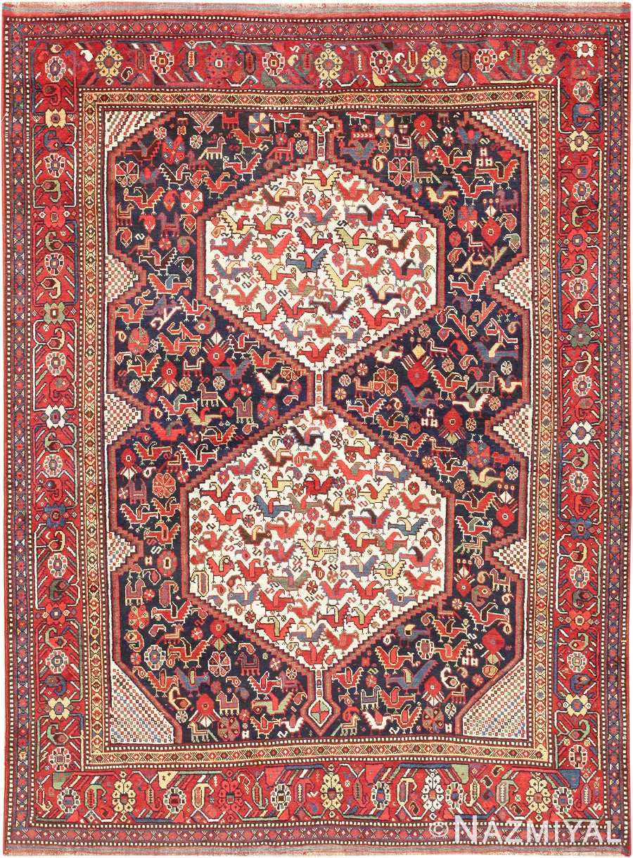 Antique Tribal Persian Afshar Rug 47569