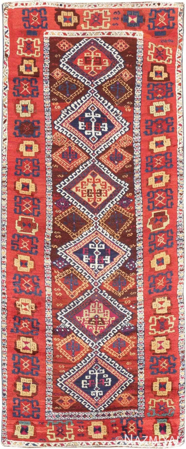 Antique Tribal Turkish Yuruk Rug 47495