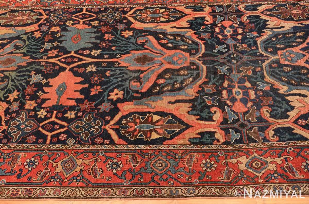 Border Blue background Antique Persian Bidjar rug 47477 by Nazmiyal Antique Rugs NYC