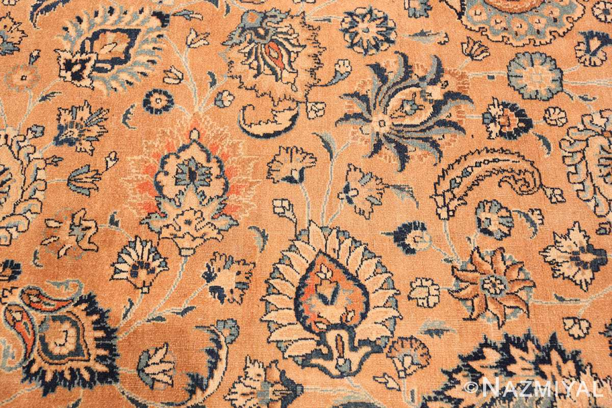 Close-up Antique Khorassan long runner rug 47219 by Nazmiyal