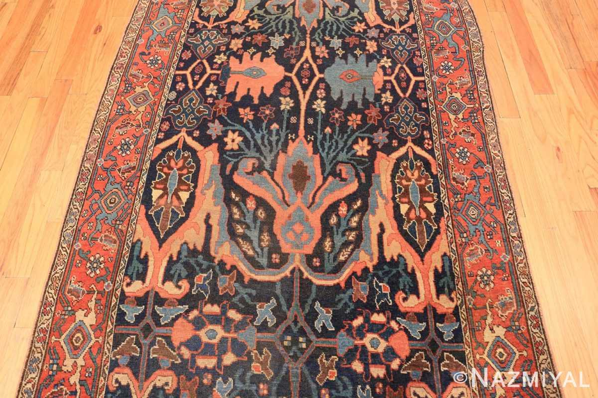 Field Blue background Antique Persian Bidjar rug 47477 by Nazmiyal Antique Rugs NYC
