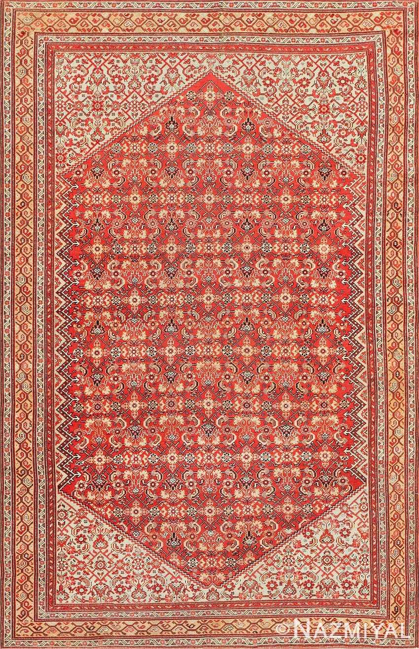 Fine Antique Persian Senneh Rug 47497 Detail/Large View