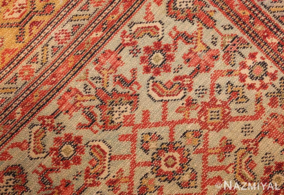 fine antique persian senneh rug 47497 weave Nazmiyal