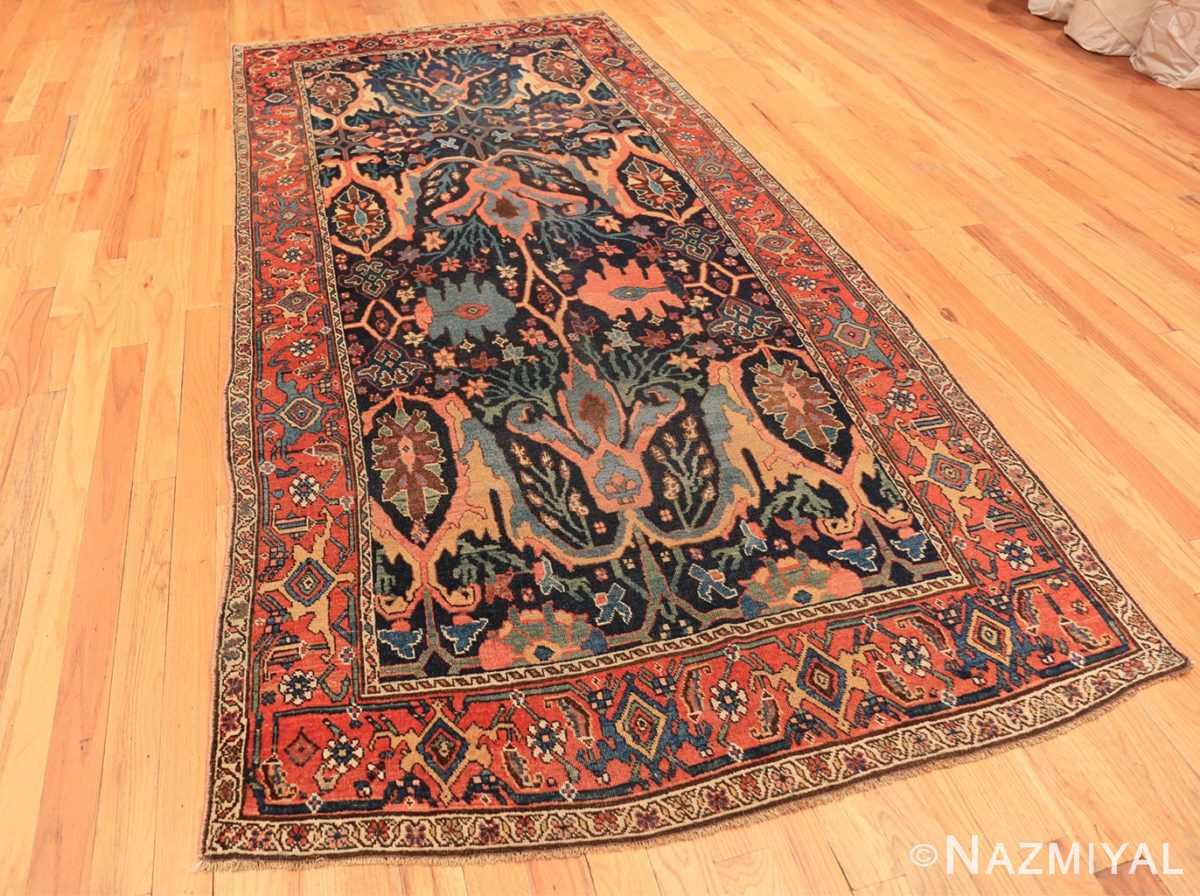 Full Blue background Antique Persian Bidjar rug 47477 by Nazmiyal Antique Rugs NYC